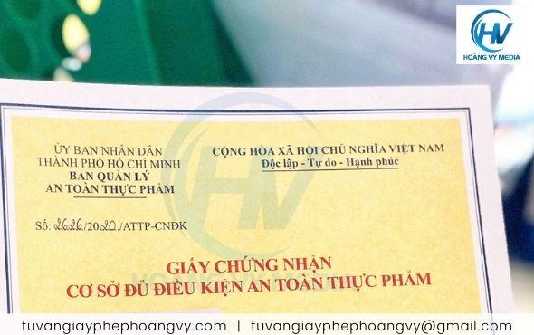 Dịch vụ làm giấy phép an toàn thực phẩm tại Quận Bình Tân