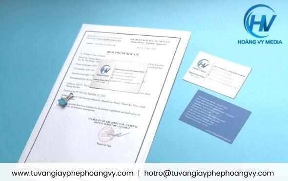Dịch vụ làm nhanh Health Certificate bột cà phê pha phin