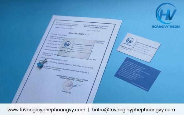 Đăng ký health certificate chứng nhận y tế cho cà phê