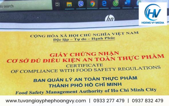 Dịch vụ chuyên làm giấy phép an toàn thực phẩm cho nhà hàng