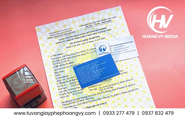 Mẫu giấy chứng nhận đăng ký doanh nghiệp