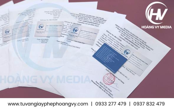 Mẫu CFS giấy chứng nhận lưu hành tự do xuất khẩu tinh bột Sắn