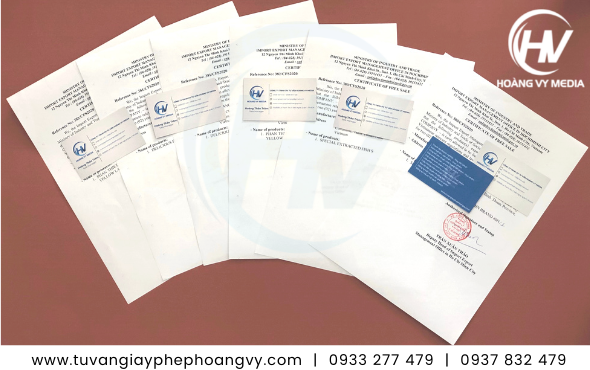 CFS giấy chứng nhận lưu hành tự do xuất khẩu hàng hóa
