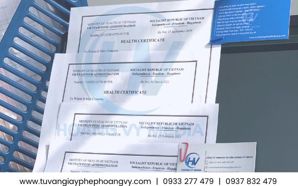 Mẫu HC giấy chứng nhận y tế xuất khẩu thực phẩm