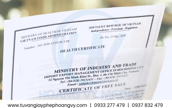 Mẫu giấy phép xuất khẩu tinh bột Sắn